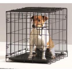 DOG COTTAGE 76CM NEGRO.Jaula perros.