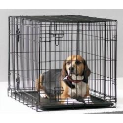 DOG COTTAGE 91CM NEGRO.Jaula perros.
