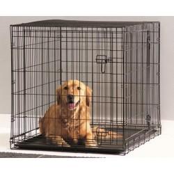 DOG COTTAGE 107CM NEGRO.Jaula perros.