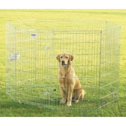 DOG PARK 3 GALVANIZADO 61x107  8 PANELES