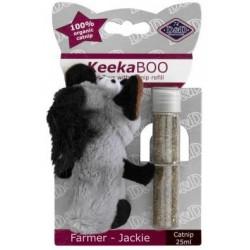 JUGUETE GATO keekaboo farmer 10cm+catnip