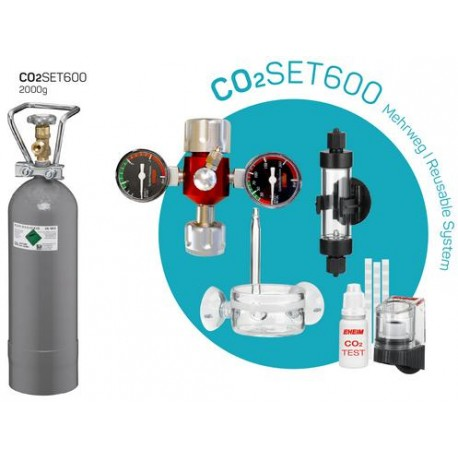 CO2 SET EHEIM 600L 2000gr recargable